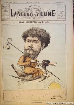 Jean Richepin riding a duck